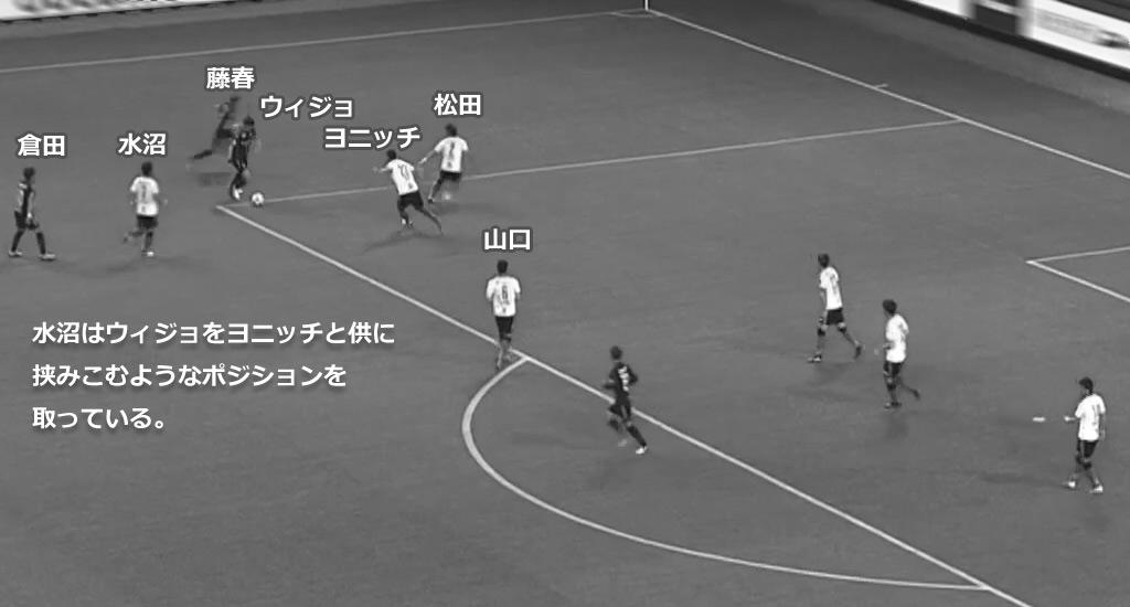 ガンバ大阪 対 セレッソ大阪 ファンウィジョのPK奪取シーン1