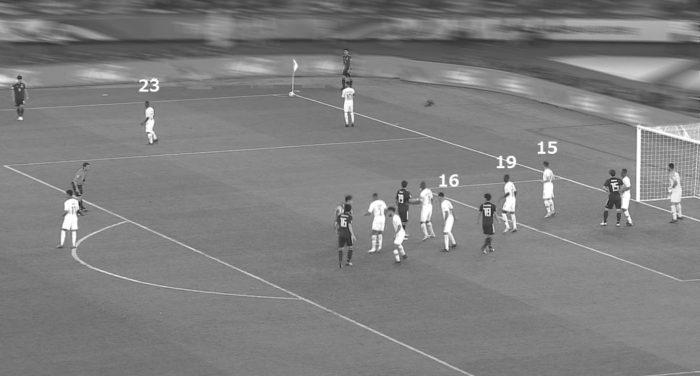 アジアカップ 日本対カタール カタールのCKの守備